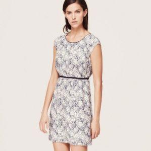 LOFT Dresses - Ann Taylor LOFT Gray Floral Dress